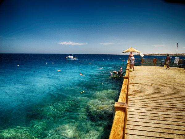 Egyiptom, Makadi Bay, molo, sznori