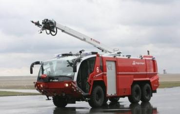 A világ egyik legmodernebb tűzoltóautója szolgál Ferihegyen